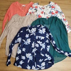Plus Size Women's Button Down & Tunic Bundle / Lot
